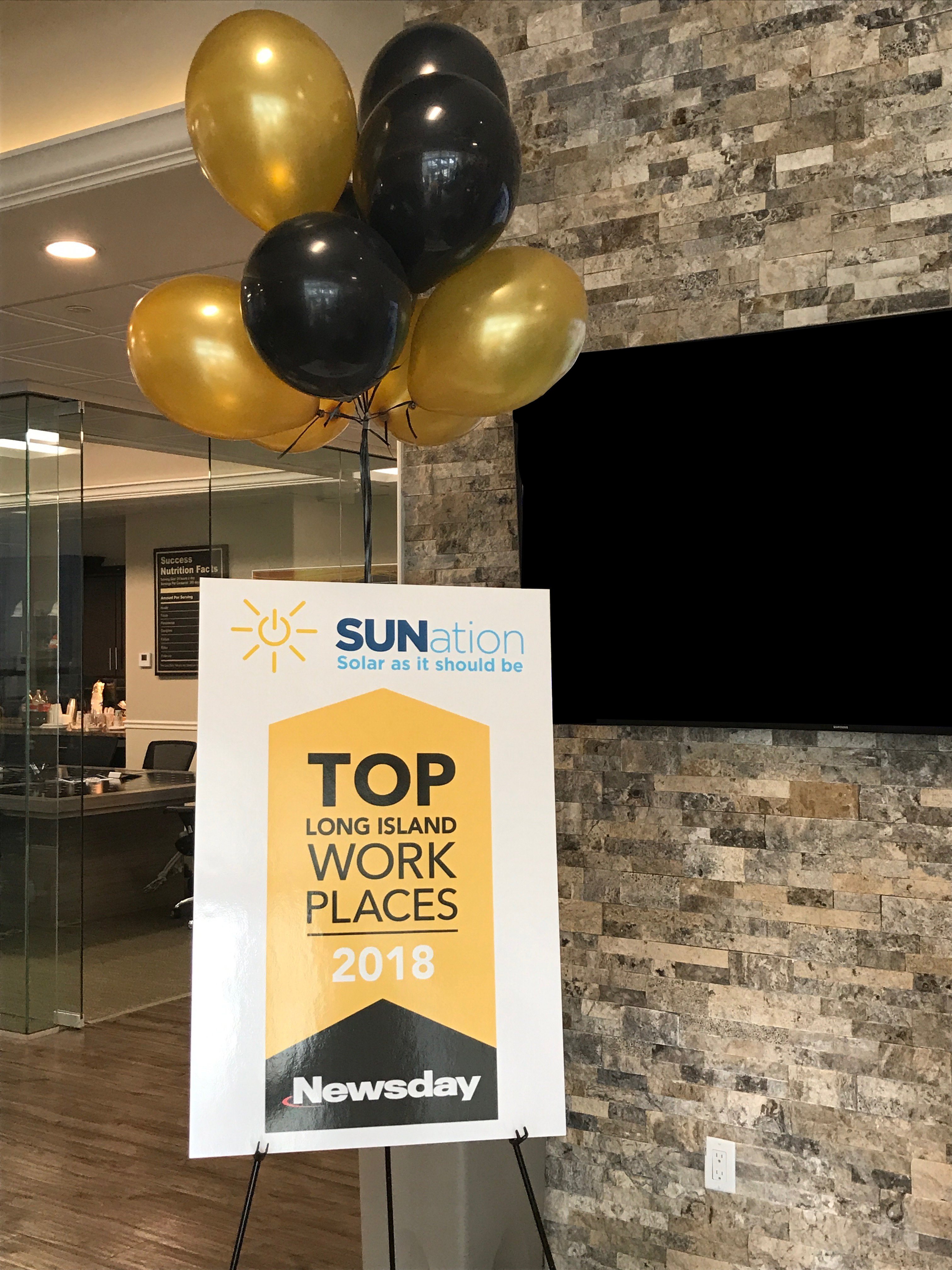 Sunation Receives 2018 Top Long Island Workplaces Award