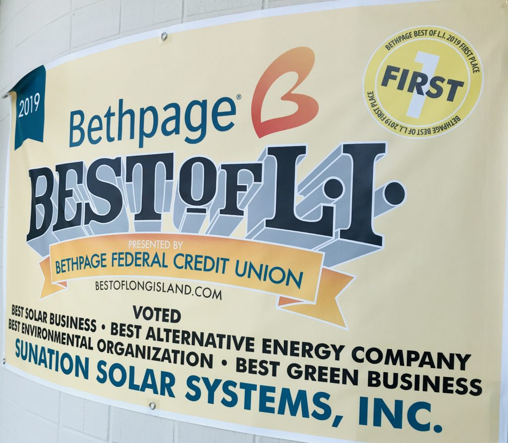 Sunation Voted Best Solar Business On Long Island 10 Years